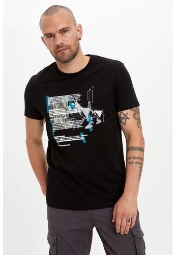 DeFacto black Man Knitted T-Shirt 63937AABB1A846GS_1