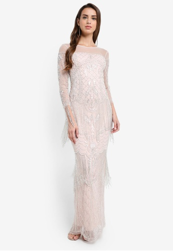 Frock and Frill pink Embellished Maxi Dress 2CE9CAA0A94EBFGS_1