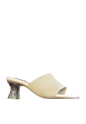 Twenty Eight Shoes beige Knitted Fabric Crystal Heeled Sandals VS86 90654SHC432AB6GS_1