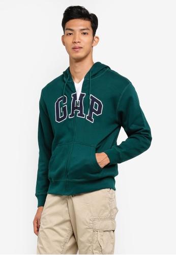 GAP green Fleece Logo Zip Hoodie ED96DAAC1CC172GS_1
