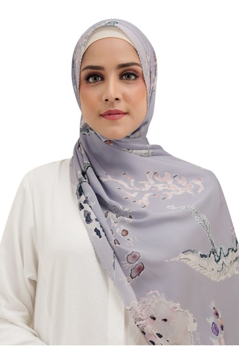 Buttonscarves grey Buttonscarves Le Costa Satin Shawl Grey 94467AAACB2BDBGS_1