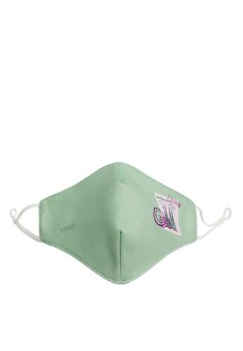 Mango green Reusable Homologated Facemask CDC01ES220CB71GS_1