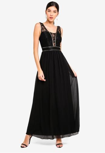 5660df97b5 Buy Little Mistress Black Lace Maxi Dress Online on ZALORA Singapore