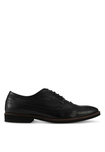 Acuto black Leather Shoes AC283SH0SL62MY_1