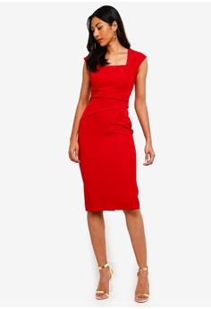 b57ac4085c Lipsy Pleat Waist Midi Bodycon Dress S  126.90. Sizes 6 14