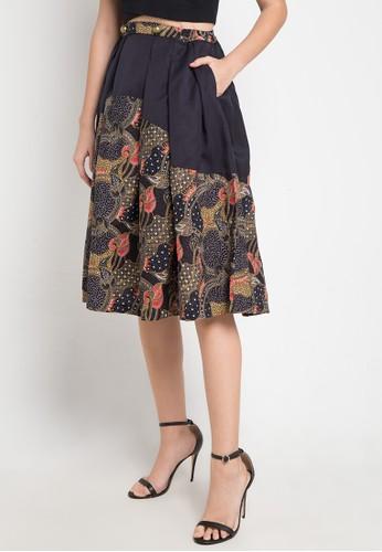 ASANA black and multi Asera Woman Skirt 00E63AAA1B519AGS_1