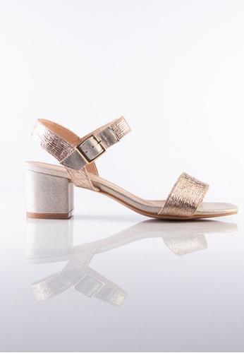 Stilaré gold La Luna Strap-On Sandals in Champagne F7381SH08BE12DGS_1