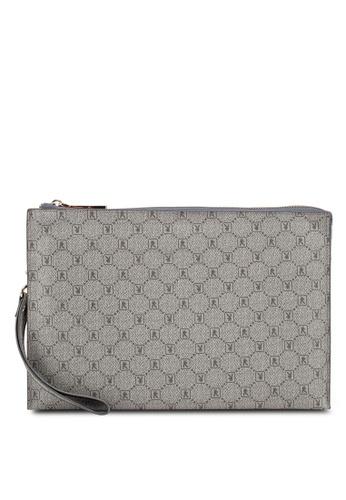 Playboy grey Faux Leather Clutch Bag 14676AC59C3F35GS_1