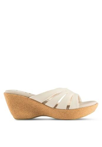 露趾懶人楔型鞋,esprit 床上用品 女鞋, 鞋