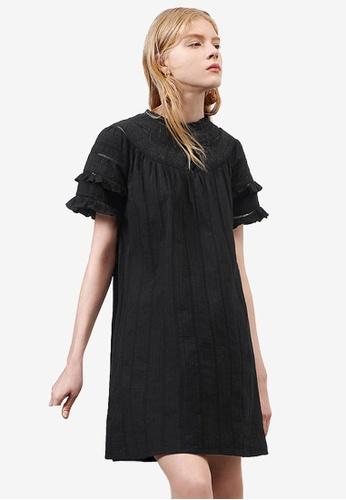 Saturday Club 黑色 LIMITED EDITION 荷葉 刺繡洋裝 324D3AAE2FE2DDGS_1