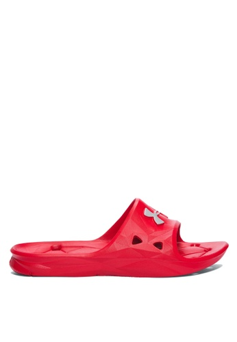 Under Armour red UA M Locker III Sliders 00FFFSHDF182F4GS_1