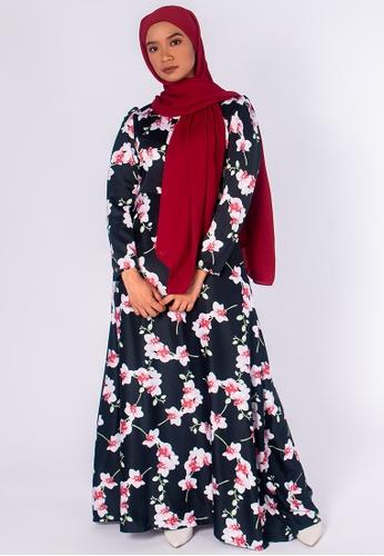 Zaryluq black Bloom Maxi Dress in Cosmos 5528DAA44B7A9BGS_1