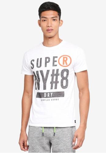 Superdry 白色 短袖印花T恤 5EA51AA83B84F7GS_1