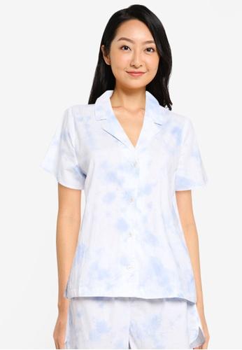 GAP blue Poplin Sleep Shirt 81B4BAA74CDF58GS_1