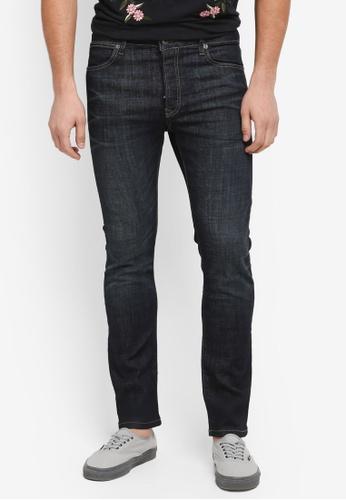 Topman blue Dark Wash Stretch Slim Jeans E5A08AA7A16161GS_1