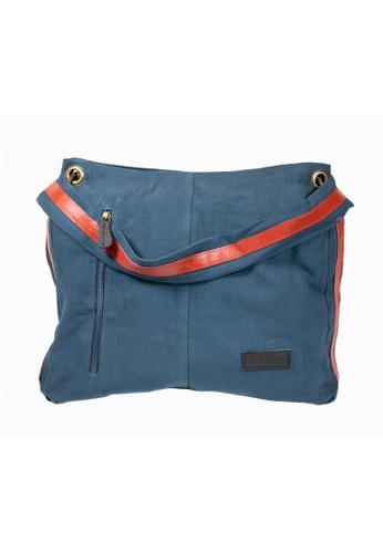Oxhide 藍色 手提袋帆布-帆布袋女士-帆布皮袋-手提袋女士大号-KL06 FA794AC1992E59GS_1