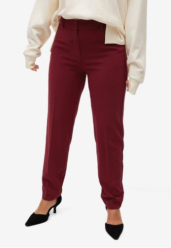 Violeta by MANGO red Slim Fit Suit Trousers 5BBCAAA9BA2B97GS_1