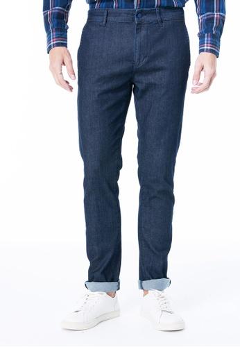 Sisley blue Slim Fit Denim Chinos A6B89AA4282E40GS_1