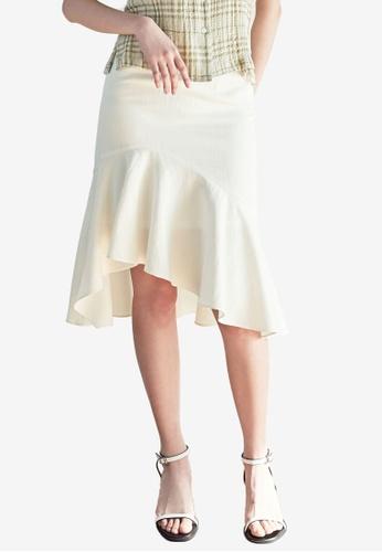 NAIN white Mermaid Skirt E2310AA0D0BB79GS_1