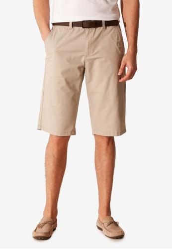 LC Waikiki beige Standard Fit Gabardine Shorts EDBAEAAE439601GS_1