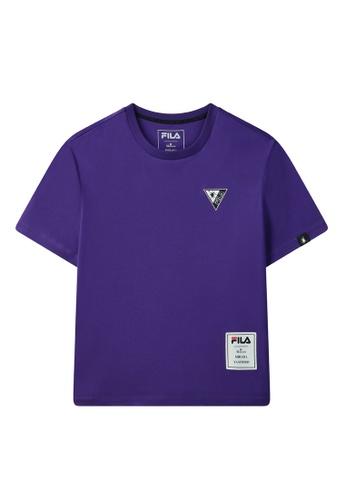 FILA purple FILA x Maison MIHARA YASUHIRO Logo Dropped Shoulders Cotton T-shirt 07A48AA568E708GS_1