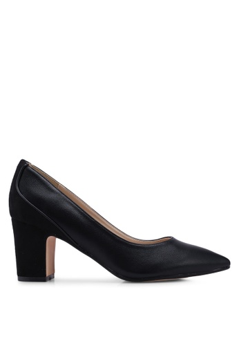 ZALORA black Chunky Heels with Piping 3BD3CSH919DED1GS_1