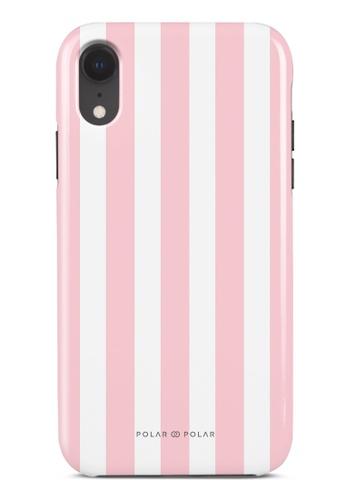 Polar Polar pink Baby Pink Stripe Dual-Layer Tough Case Glossy For iPhone XR E49E4AC90D6F91GS_1