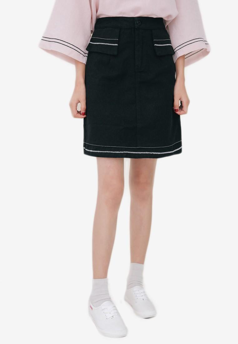 Ava Pencil Mini Skirt