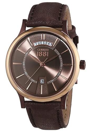 Cerruti 1881 brown Jam Tangan Pria Cerruti Varallo CRA128SBRR12BR 324EEAC88ABEF4GS_1