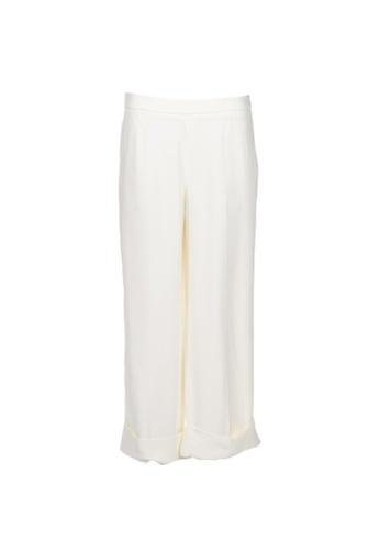 MIU MIU white Pre-Loved White Flared Trousers 3A6C7AA9BF0FA2GS_1