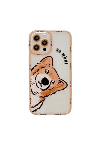 Kings Collection white Cartoon Shiba Inu iPhone 12 Case (KCMCL2413) FD206AC8E1E277GS_1