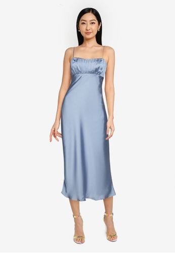 Forever New blue Christina Strappy Midi Dress 14CEDAAAF8D8FCGS_1