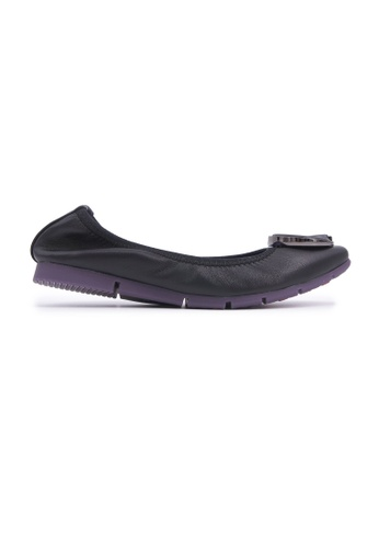 Flatss & Heelss by Rad Russel black Square-toe Flats with Buckle - Black 25FD8SH1F8CFADGS_1