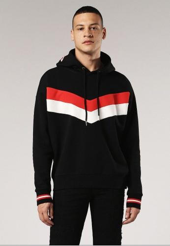 Diesel black S-Lisa Sweatshirt A9146AA89644AFGS_1