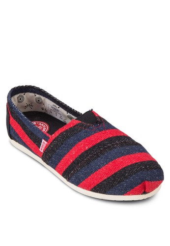 Ruiz 撞色條紋懶esprit分店人鞋, 女鞋, 休閒鞋
