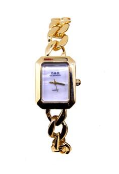 Japan Design 18K Gold Plating Chain Watch