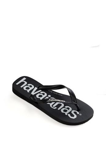 Havaianas black Top Logo Mania Flip Flops AE1BCSH4CE0CF1GS_1