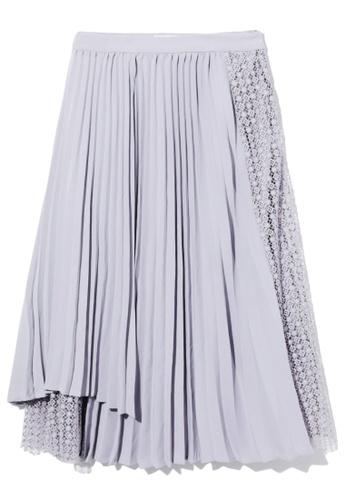 izzue purple Panelled pleat skirt FBC64AA8907873GS_1