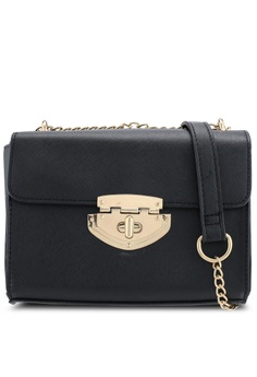fa8b70d01fd Dorothy Perkins black Black Lock Chain Crossbody Bag 6868CAC7BD2078GS 1