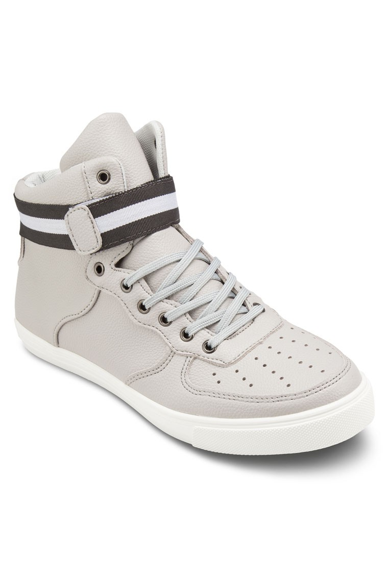 Grosgain Faux Leather High Top Sneakers