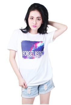Forget Regret Quotable Printed Shirt