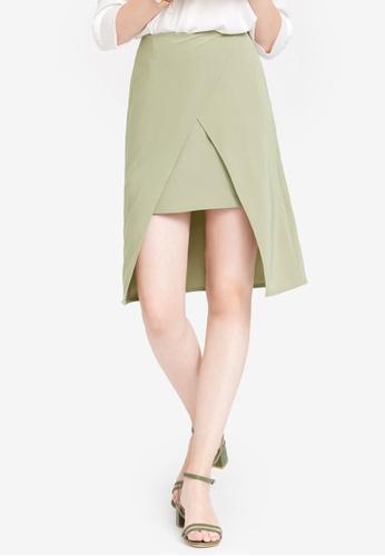 Kodz green Minimal Wrap Skirt 93688AAC0AF523GS_1