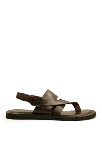 Kenneth Cole New York brown REEL 1ST - Strap Sandal KE615SH0RHS3MY_1