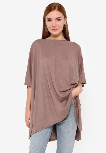 niko and ... brown Oversized Knitted Pullover Top 6B2A2AA23940FDGS_1