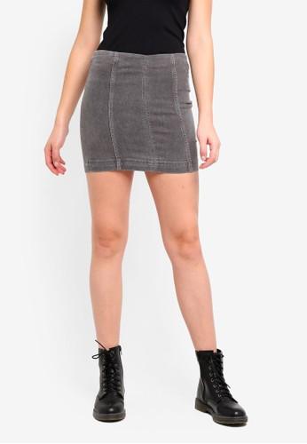 Free People grey Skirt Modern Femme Denim Mini D8CF8AAE0DAA11GS_1