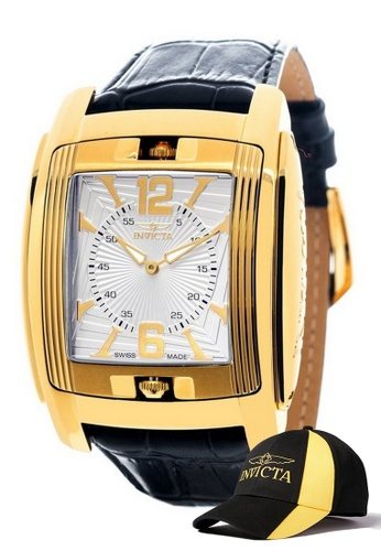 INVICTA gold Invicta Vintage Men Swiss Quartz IP 48mm Classic Watch 90181 w/ Free Official Baseball Cap BA4E7AC06BB5C5GS_1