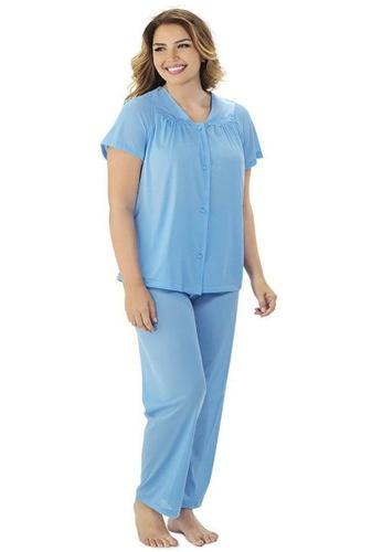 Exquisite Form blue Short Sleeve Pyjama Set Plus 305AFAA53C0ECAGS_1