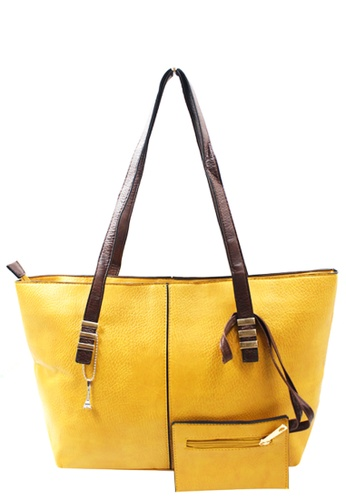 Vintage Paris yellow Lavinia Shoulder Bag VI567AC09VIOPH_1