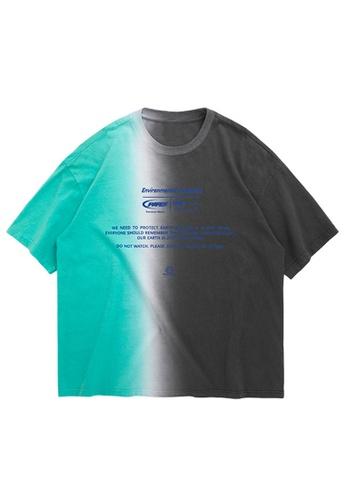 Twenty Eight Shoes Dip-Dyed Printed Short T-Shirt 1196S20 A578CAA5E3BCE7GS_1