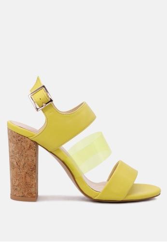 London Rag yellow Slay by London Rag Sandal with Clear Strap A0FA4SH3F49098GS_1
